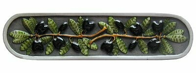 Notting Hill Cabinet Pull Olive Branch Pewter Hand Tinted 4