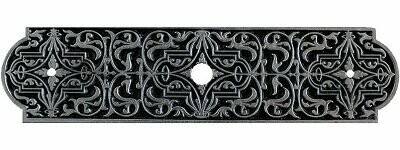 Notting Hill Cabinet Hardware Renaissance Back Plate Brilliant Pewter 3-7/8
