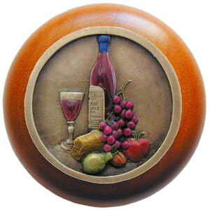 Notting Hill Cabinet Knob Best Cellar (Wine)/Cherry Brass Hand Tinted 1-1/2