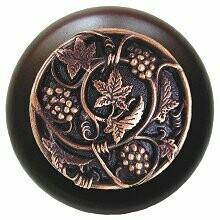 Notting Hill Cabinet Knob Grapevines/Dark Walnut Antique Copper 1-1/2