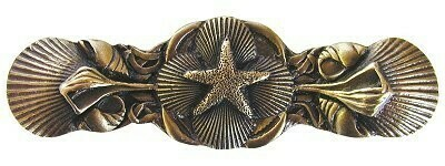 Notting Hill Cabinet Pull Seaside Collage Antique Brass 4