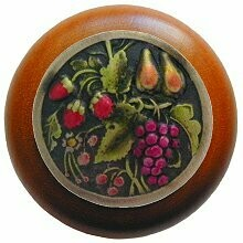 Notting Hill Cabinet Knob Tuscan Bounty/Cherry Brass Hand Tinted 1-1/2