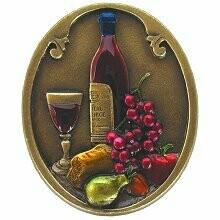 Notting Hill Cabinet Knob Best Cellar (Wine) Brass Hand Tinted1-1/4