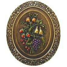 Notting Hill Cabinet Knob Fruit Bouquet Brass Hand Tinted 1-3/16