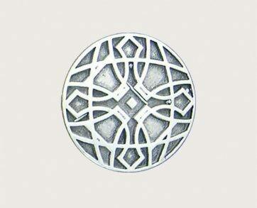 Emenee Decorative Cabinet Hardware Mission Knob Big Circles 1-3/8