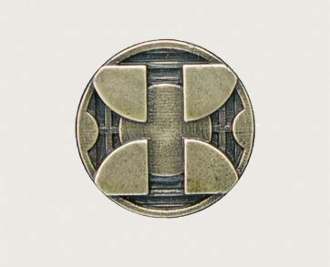 Emenee Decorative Cabinet Hardware Mission Knob Circle w/Squares 1-3/8
