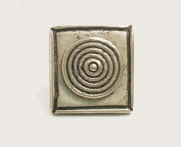 Emenee Decorative Cabinet Hardware Bullseye on Square 1-3/8