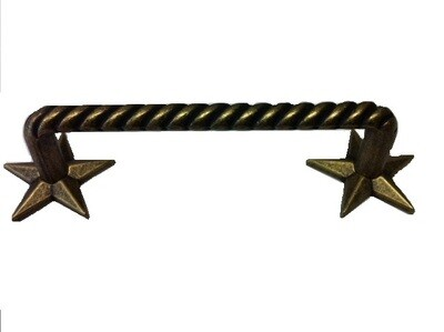 Buck Snort Lodge Decorative Hardware Cabinet Knobs and Pulls Rope Pull with Stars