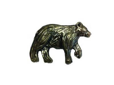 Buck Snort Lodge Decorative Hardware Cabinet Knobs and Pulls Bear facing Right