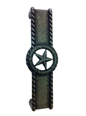 Buck Snort Lodge Hardware Star with Barbed Wire Cabinet Pull