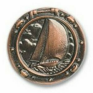 Buck Snort Lodge Decorative Hardware Cabinet Knobs and Pulls Sailboat In Porthole