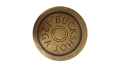 Buck Snort Lodge Hardware Cabinet Knob Shotgun Shell Coaster Antique Brass ONLY