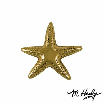 Michael Healy Designs Starfish Doorbell Ringer Brass