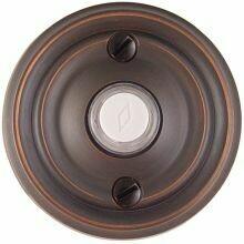 Emtek Door Hardware Brass Door Bell with Plate and Button  Regular Rosette