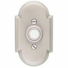 Emtek Door Hardware Brass Door Bell with Plate and Button  # 8 Rosette