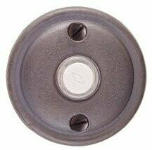 Emtek Door Hardware Tuscany Bronze Door Bell with Plate and Button  # 12 Rosette