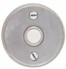 Emtek Door Hardware Sandcast Bronze Door Bell with Plate and Button  # 2 Rosette