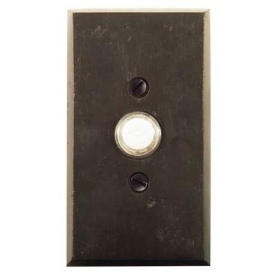 Emtek Door Hardware Sandcast Bronze Door Bell with Plate and Button # 3 Rosette