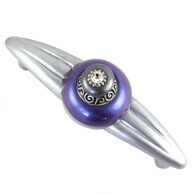 Susan Goldstick Duchess  periwinkle purple and moonstone gray Cabinet Pull