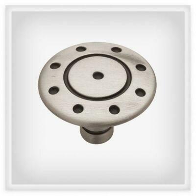Liberty Hardware  Flat Ring & Dot  Cabinet Knob Brushed Nickel