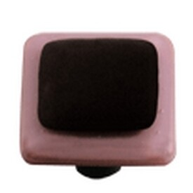 Hot Knobs Glass Cabinet Pull Dusty Lilac Border Collection Black