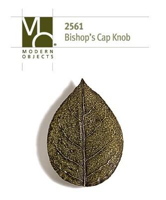 Modern Objects Designer Hardware Bishops Cap Leaf Cabinet Knob
