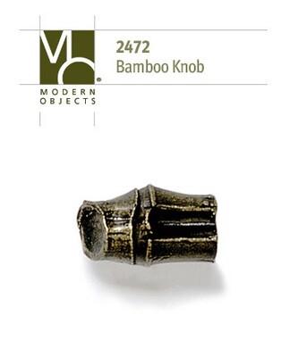 Modern Objects Designer Hardware Bamboo Cabinet Knob