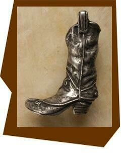 Anne At Home Cowboy Boot Cabinet Knob-Small-Left