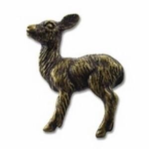 Big Sky Hardware-Baby Deer Cabinet Knob-Antique Brass
