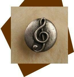 Anne At Home Clef-Music Cabinet Knob