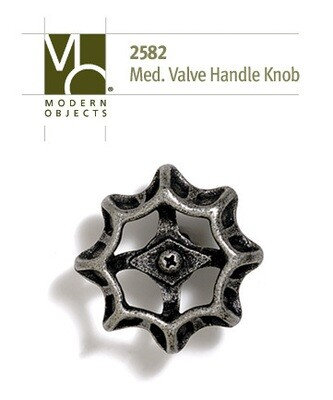 Modern Objects Designer Hardware Medium Industrial Valve Handle Cabinet Knob