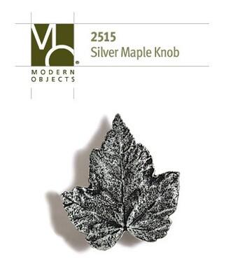 Modern Objects Designer Hardware Silver Maple Cabinet Knob
