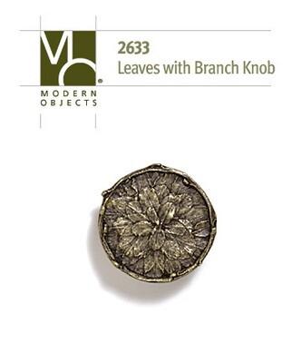 Modern Objects Decorative Hardware Tree Leaves w/ Branch Cabinet Knob