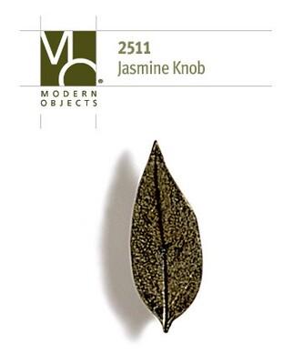 Modern Objects Designer Hardware Jasmine Leaf Cabinet Knob