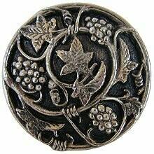 Notting Hill Cabinet Knob Grapevines Brite Nickel 1-5/16