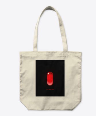 The Red Pill Organic Natural Cotton Tote
