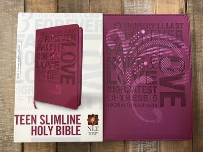 Faith Hope And Love Bible Teen Pink