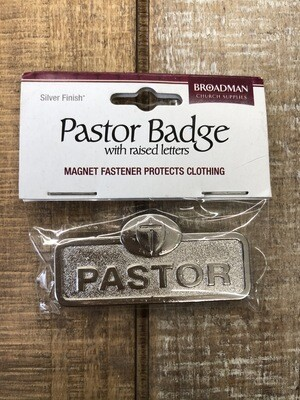 Pastor Pin With Cross Brass