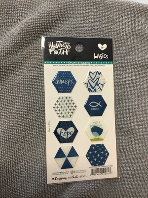 Mrs Blueberry Epoxy Stickers