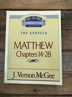 Matthew Ch.14-28 thru the bible