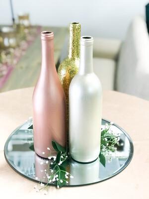 Assortment of Gold, Rose Gold & Navy Wine Bottles