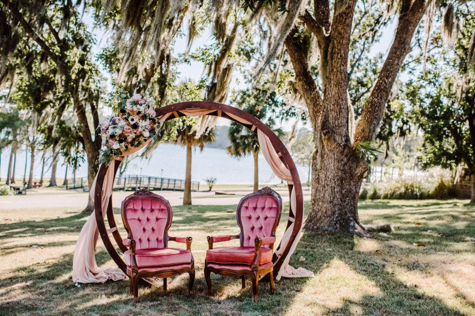 Lucy- Rose Antique Lounge Chair