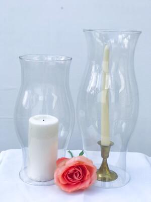 "Hurricane Glass Vase 11.5"" Tall 4.5"" Wide"