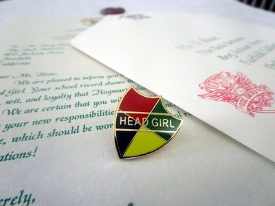 Head Boy or Head Girl Letter with Pin
