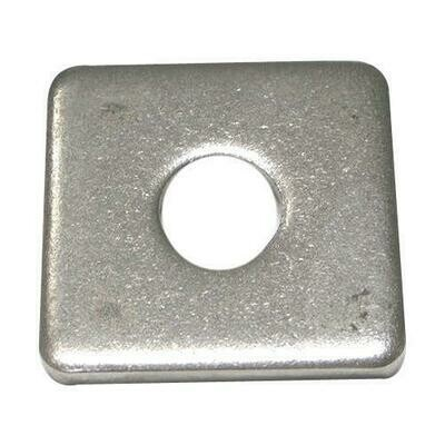 M12 x 50 x 3.0mm Thick Square Washer A2 Stainless Steel