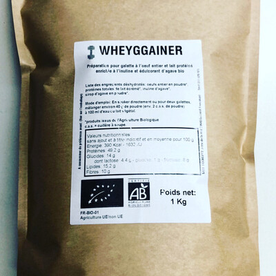 Wheyg-gainer à l'oeuf entier: 1 kg