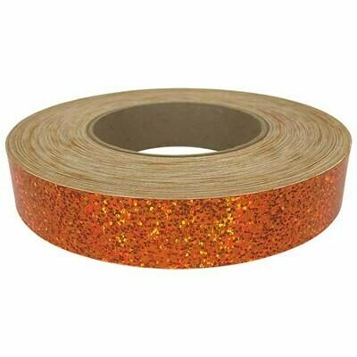 Holographic Sequin Tape, Orange Crush