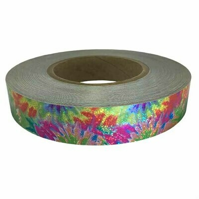 Holographic Sequin Tape, Tie Dye Red-Green
