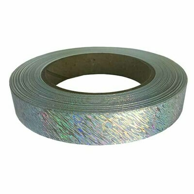 Solid Silver Splash Holographic Tape