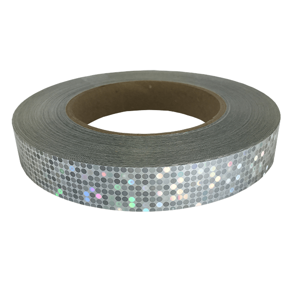 Silver Rainbow Dots Holographic Tape